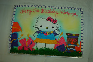 McArthur's Bakery Custom Cake with Hawaiian Hellow Kitty