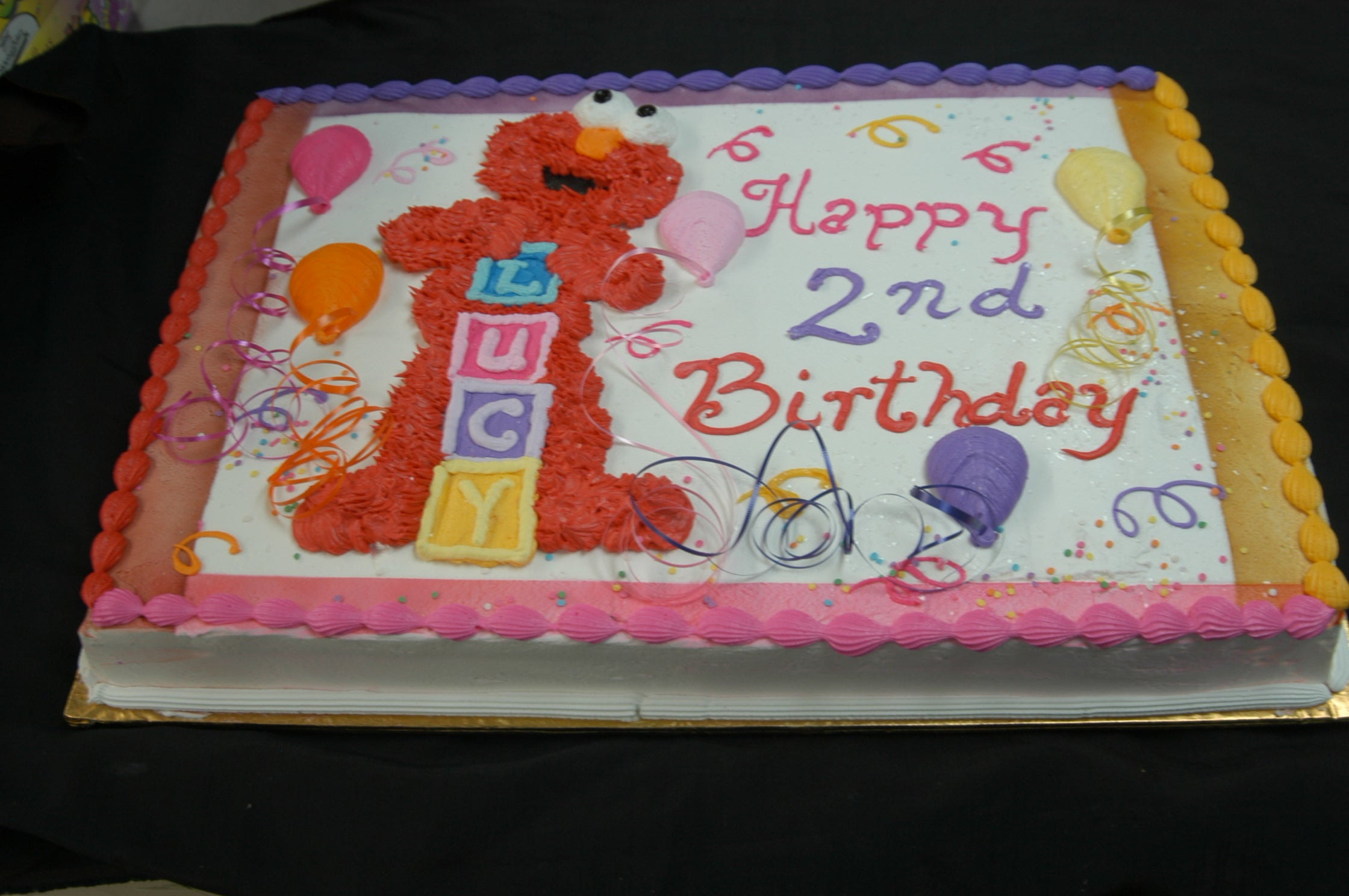 Elmo and Baby Blocks Cake