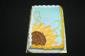 McArthur's Bakery Custom Cake with Large Yellow Sunflower