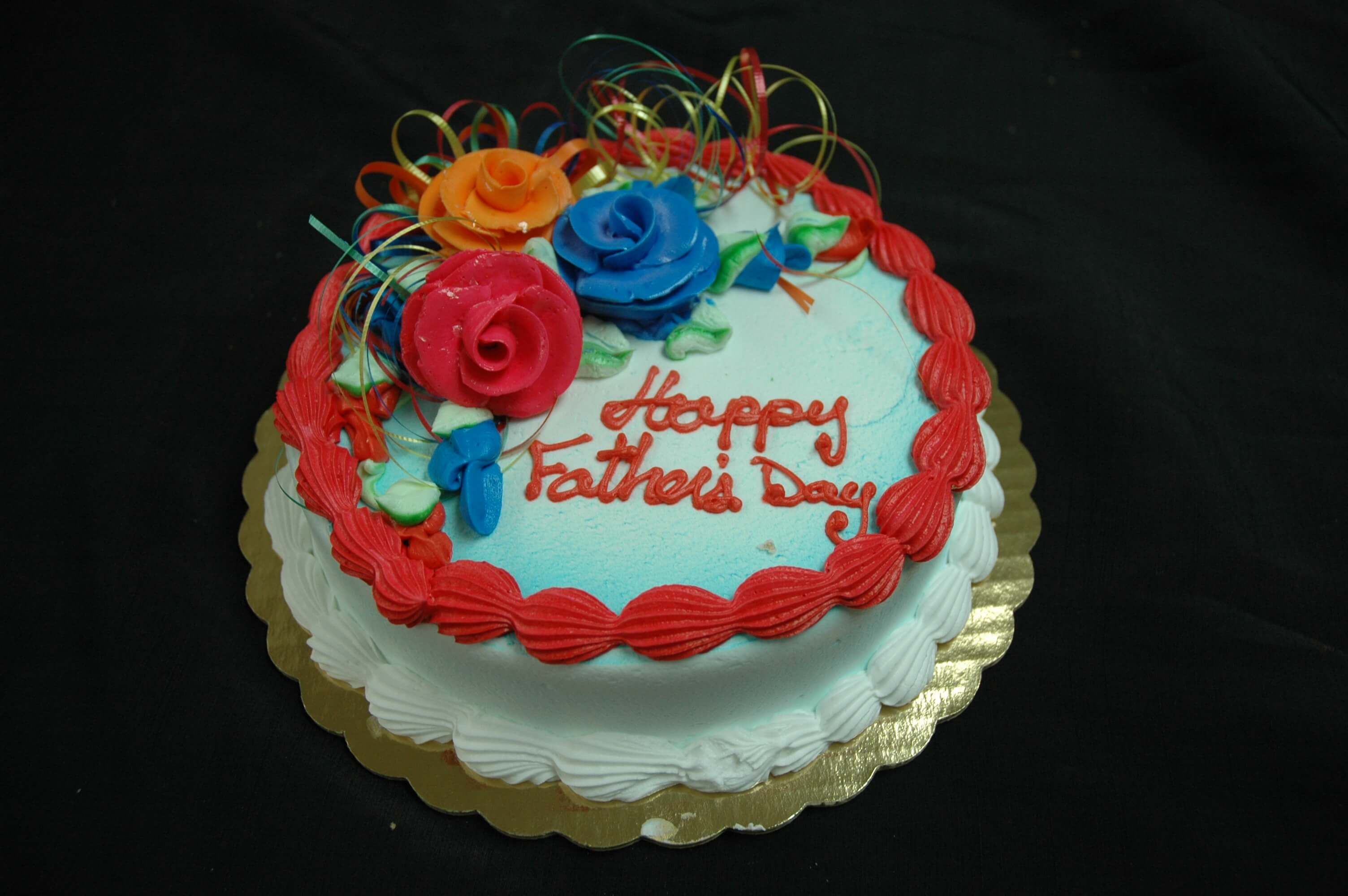 McArthur's Bakery Custom Cake with Bright Colored Roses