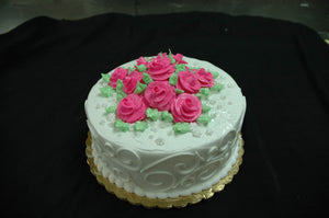 McArthur's Bakery Custom Cake with Cluster of Pink Roses