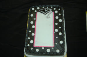 McArthur's Bakery Custom Cake with Polka Dots, Graduation Cap