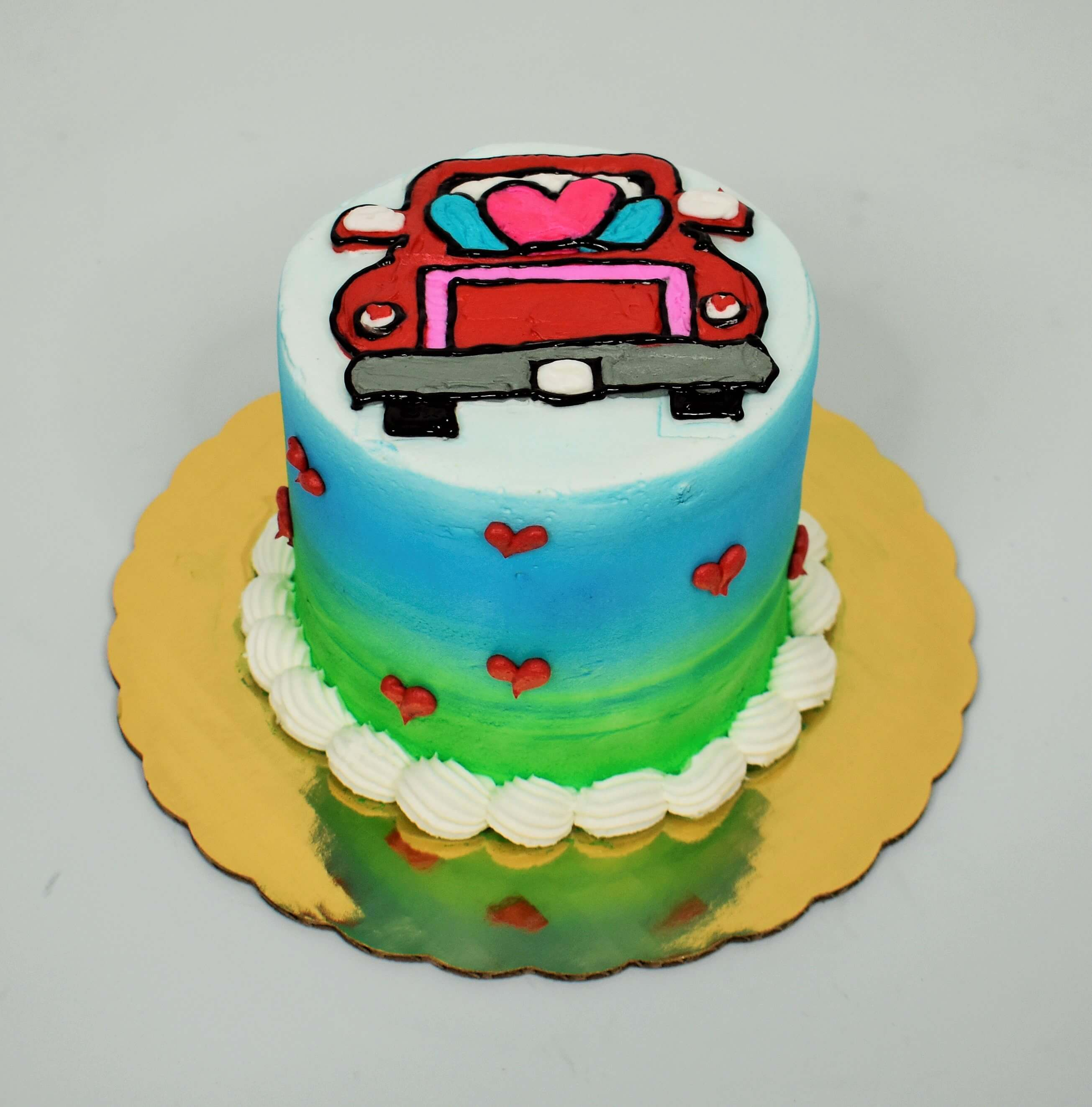 Kissing In The Car Cake