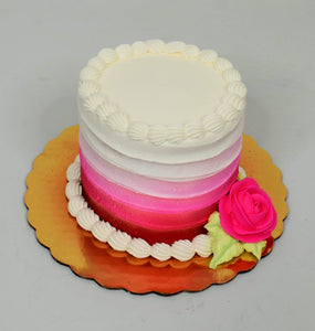 Fading Pink With Rose Cake