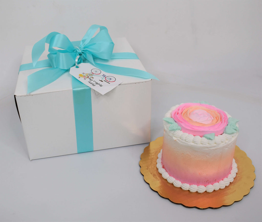 Pink Rose In Bloom Cake Gift Set