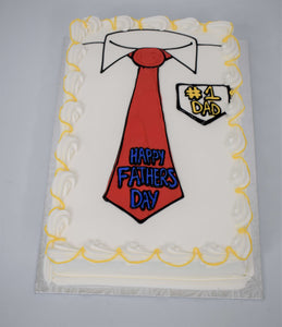 Dad Loves Ties Cake