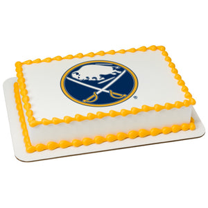 MaArthur's Bakery Custom Cake with Buffalo Sabres Scan