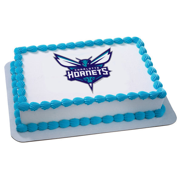 MaArthur's Bakery Custom Cake with Charlotte Hornets Scan