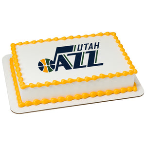 MaArthur's Bakery Custom Cake with Utah Jazz Scan
