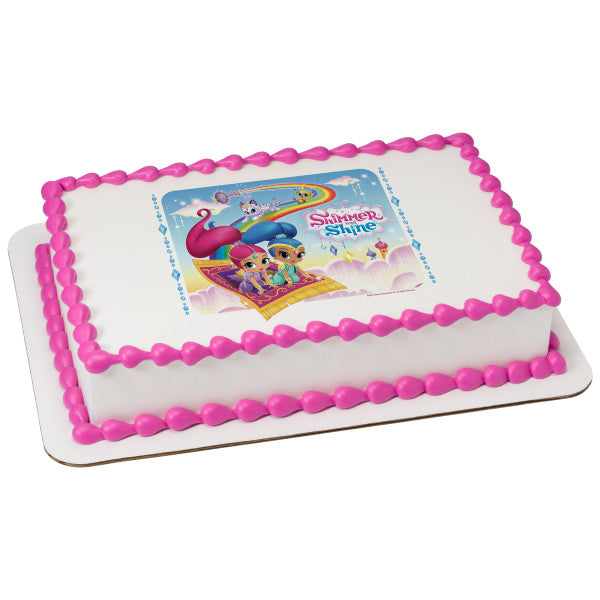 MaArthur's Bakery Custom Cake with Shimmer and Shine Scan, Genie Girls