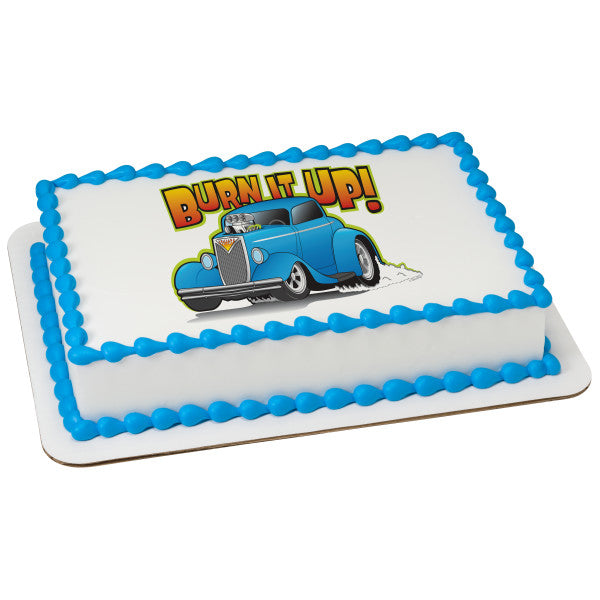 MaArthur's Bakery Custom Cake with Hot Rod Car Scan