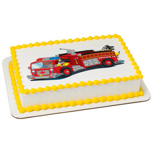 MaArthur's Bakery Custom Cake with a Firetruck Scan