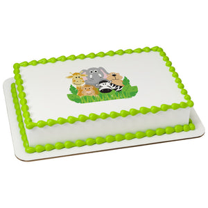 McArthur's Bakery Custom Cake with Jungle animals Scan