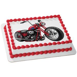 MaArthur's Bakery Custom Cake with a Motorcycle Scan