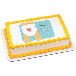 MaArthur's Bakery Custom Cake with Baby, Diaper with Heart