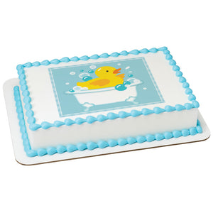 MaArthur's Bakery Custom Cake with Rubber Ducky in a Bath Scan