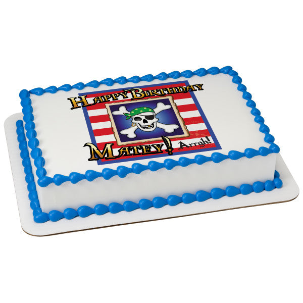 McArthur's Bakery Custom Cake with Pirate Birthday Cake