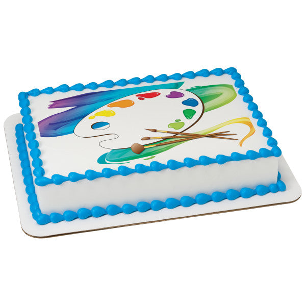 MaArthur's Bakery Custom Cake with Paint Pallate, Artist Cake