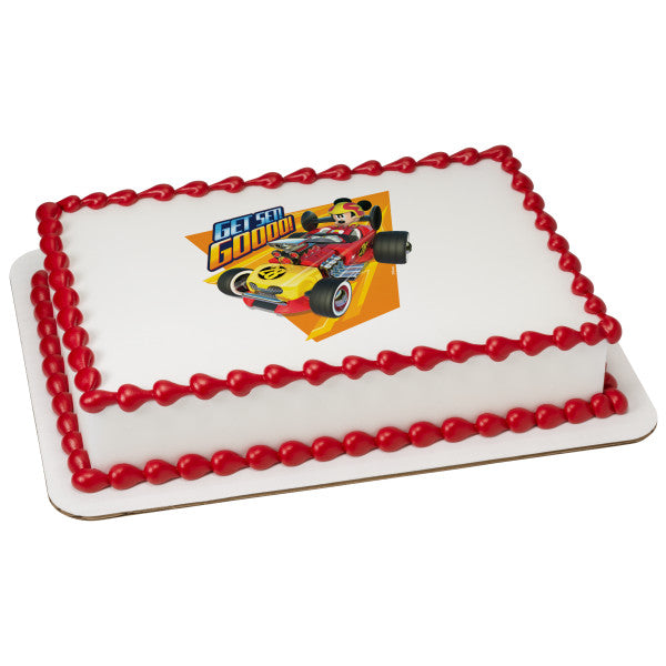 McArthur's Bakery Custom Cake with Mickey Mouse, Hot Rod