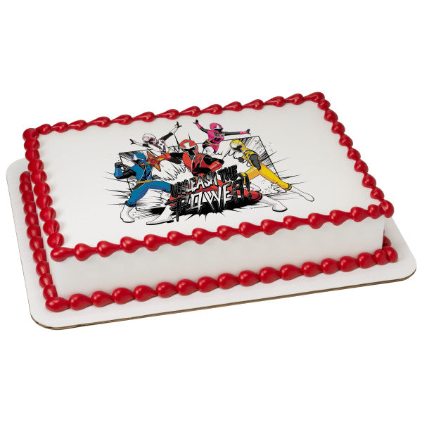 McArthur's Bakery Custom Cake with Five Power Rangers
