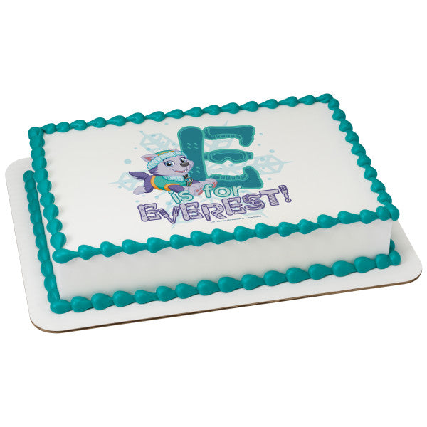 McArthur's Bakery Custom Cake with Paw Patrol, E is for Everest Scan