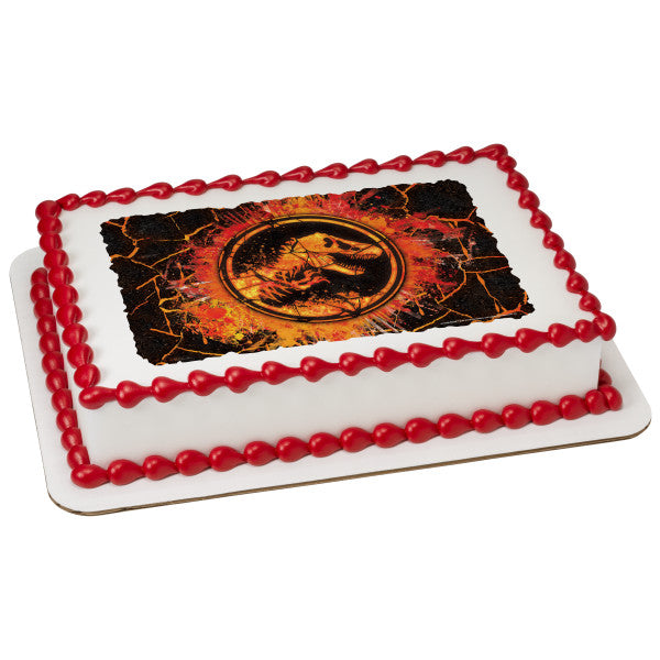 McArthur's Bakery Custom Cake with Jurassic World Fallen Kingdom Molten