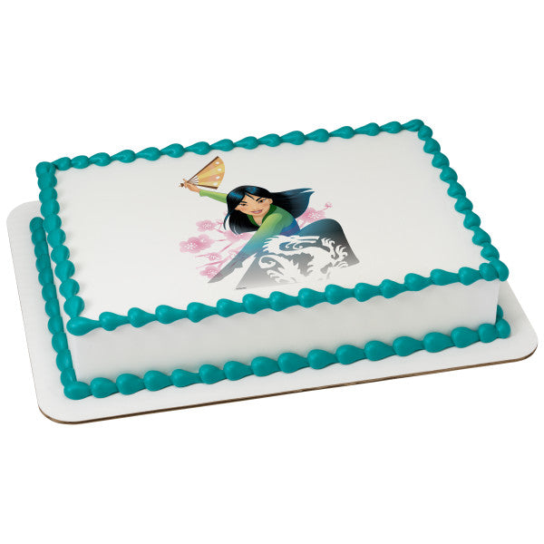 McArthur's Bakery Custom Cake with Mulan Destined Scan