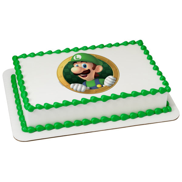 McArthur's Bakery Custom Cake with Mario Brothers Luigi