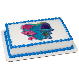 McArthur's Bakery Custom Cake with Trolls Scan, Heart with Poppy and Branch