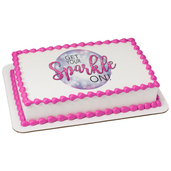 McArthur's Bakery Custom Cake with Get Your Sparkle On Scan