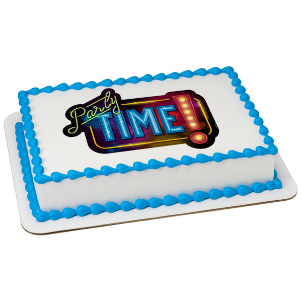 McArthur's Bakery Custom Cake with Party Time Scan