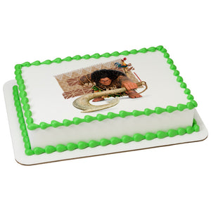 McArthur's Bakery Custom Cake with Moana Maui and Heihei Scan