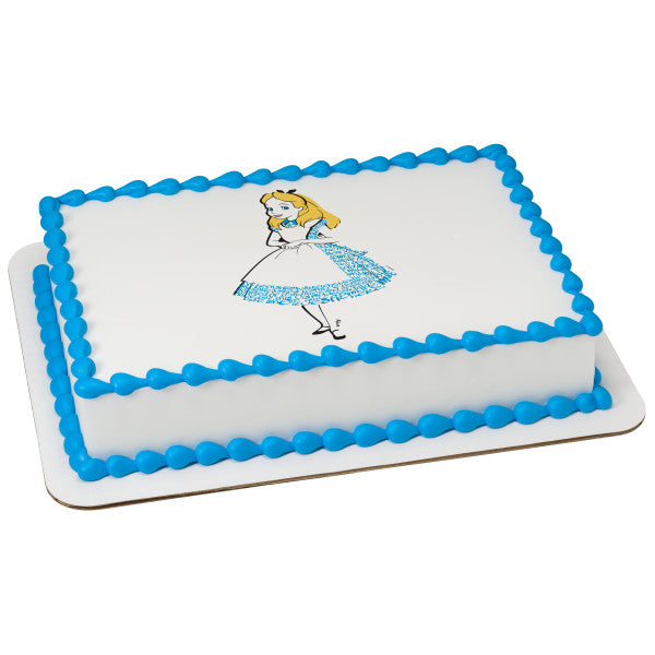 McArthur's Bakery Custom Cake with Alice in Wonderland Scan