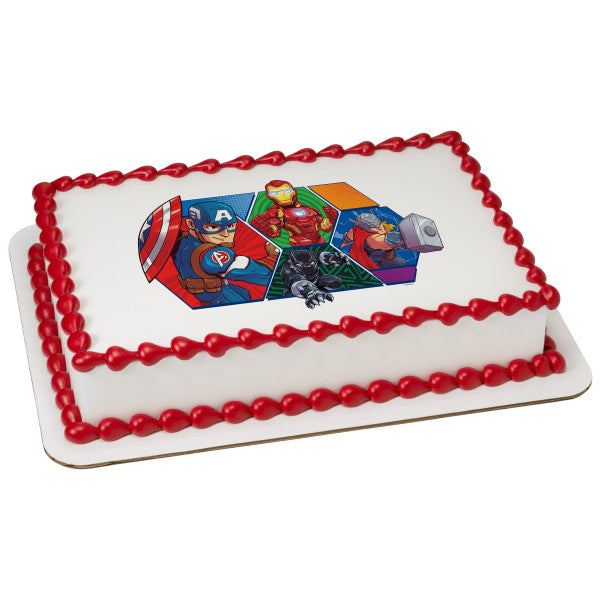 McArthur's Bakery Custom Cake Marvel Adventures Battle