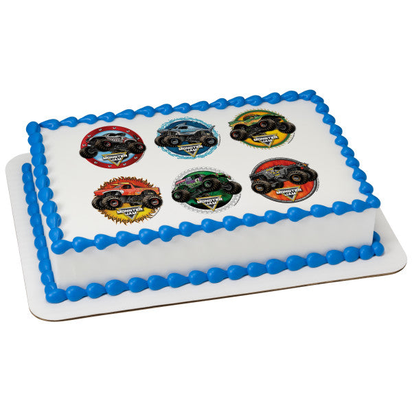 McArthur's Bakery Custom Cake With Six Monster Trucks