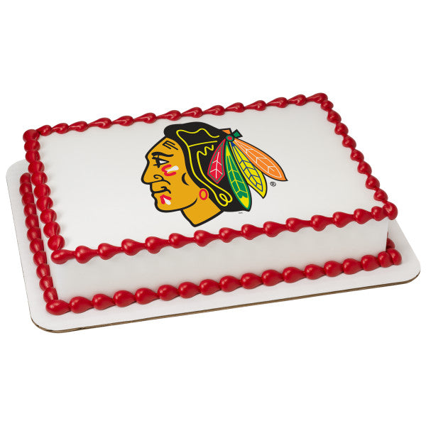 McArthur's Bakery Custom Cake With Chicago Blackhawks Logo