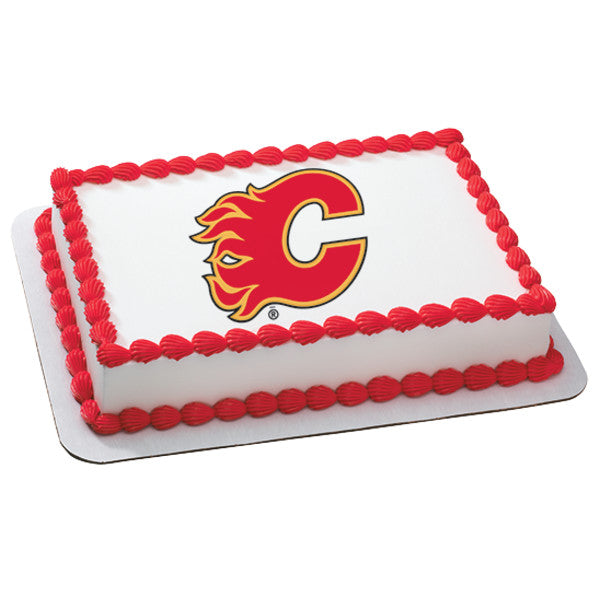 McArthur's Bakery Custom Cake With Calgary Flames Logo