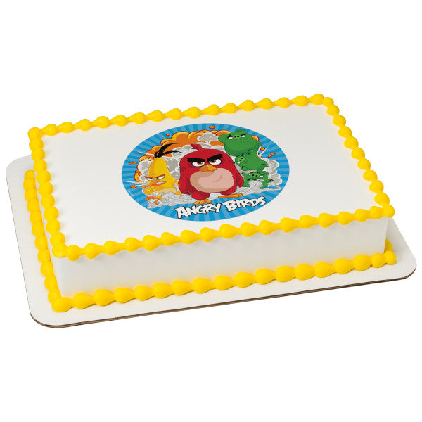 McArthur's Bakery Custom Cake with Angry Birds Boom Cake