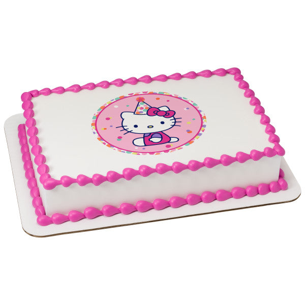 McArthur's Bakery Custom Cake with Hello Kitty Party Hat Scan