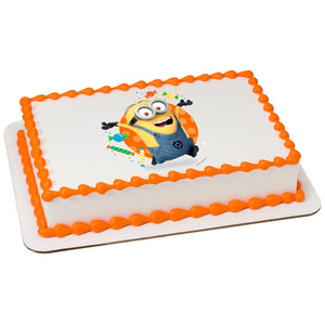 MaArthur's Bakery Custom Cake with Despicable Me, Lets Party Scan