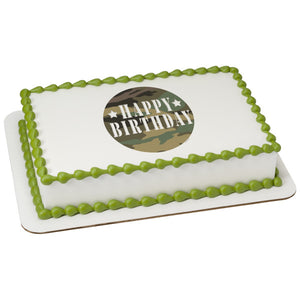 Peachy Camo Birthday Cake Funny Birthday Cards Online Overcheapnameinfo