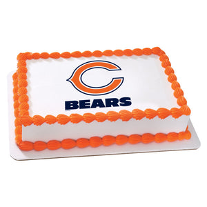 McArthur's Bakery Custom Cake With Chicago Bears Logo