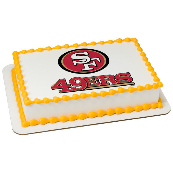 McArthur's Bakery Custom Cake With San Francisco 49ers Logo