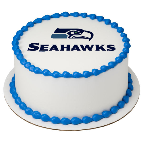McArthurs Bakery Custom Cake With Seattle Seahawks Logo