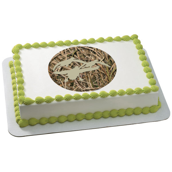 McArthur's Bakery Custom Cake With Duck Silhouettes and Grass Blades