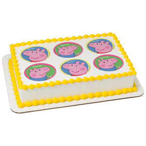 MaArthur's Bakery Custom Cake with 6 Peppa Pig Scans