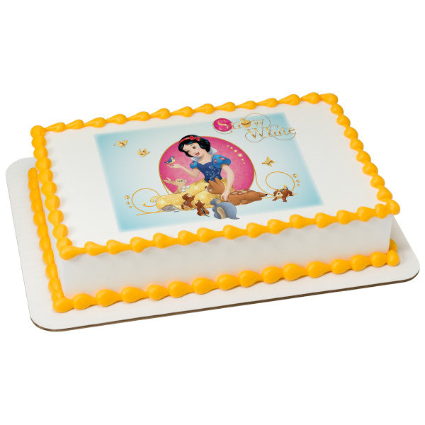 MaArthur's Bakery Custom Cake with Snow White and Friends
