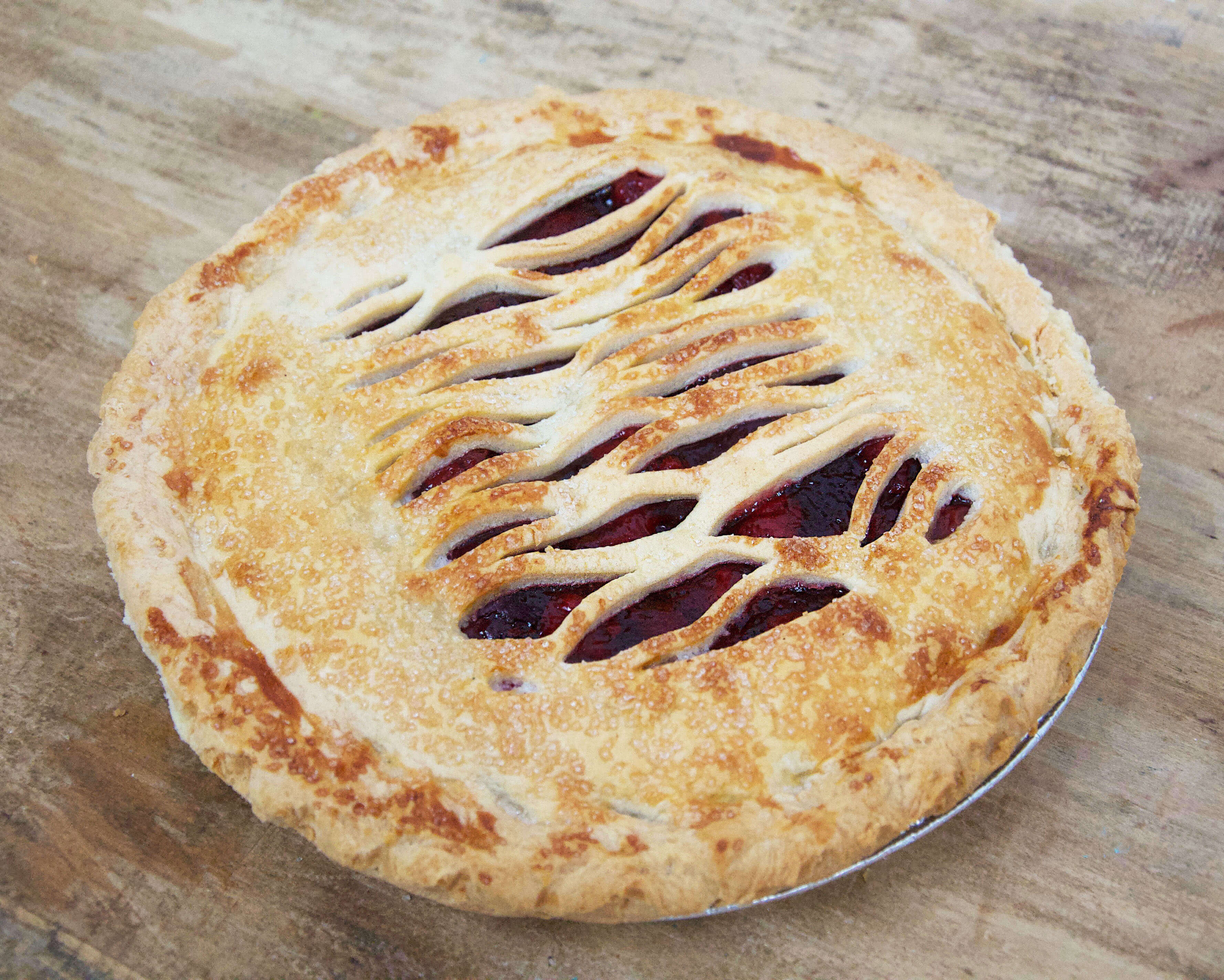 Cherry Lattice Pie (Sugar Free)