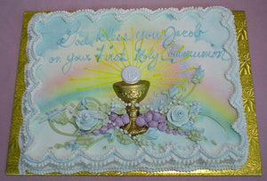 Chalice With Rainbows Cake