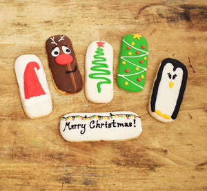 Assorted Christmas Cookie Sticks (Pack of 4)